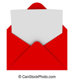 封筒, 手紙, ブランク