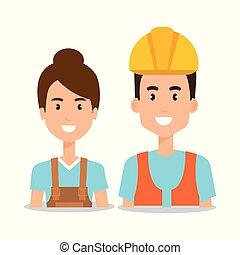 専門家, 恋人, 労働者