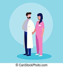 専門家, 恋人, 特徴, avatar, 医者