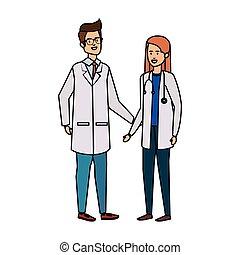専門家, 恋人, avatars, 特徴, 医者
