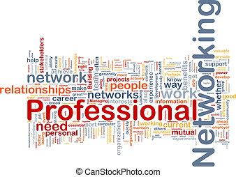 専門家, 概念, ネットワーキング, 背景