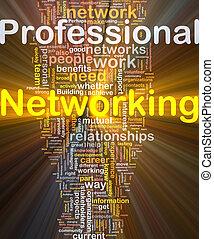 専門家, 白熱, 概念, ネットワーキング, 背景
