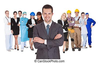 専門職, 別, 白, 労働者, 一緒に