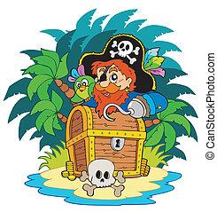 小さい島, 海賊, ホック