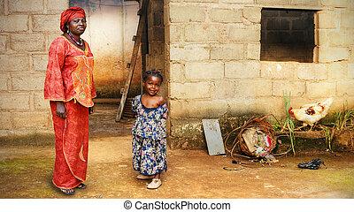 小さい母, 黒人の少女, アフリカ