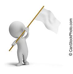 小さい, 旗, 3d, -, 人々