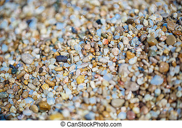 小さい, 石, 浜