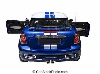 小さい, 青, スポーツ, 隔離された, 自動車