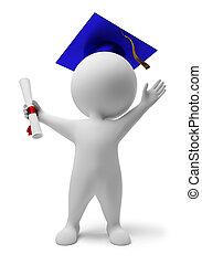 小さい, 3d, -, 卒業証書, 人々