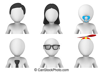 小さい, 3d, avatar, 人々