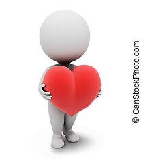 小さい, people-heart, 3d