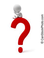 小さい, people-question, 3d