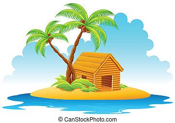 小屋, 島