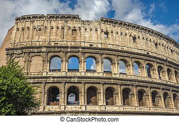 少佐, イタリア, 観光客, (coliseum), ローマ, 魅力, colosseum