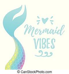 尾, mermaid, かわいい