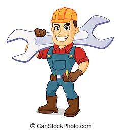 届く, handyman, レンチ