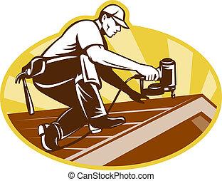 屋根, 屋根ふき, 仕事, 屋根職人, 労働者