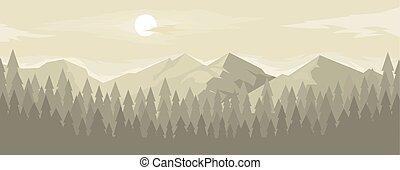 山地, 横, パノラマ