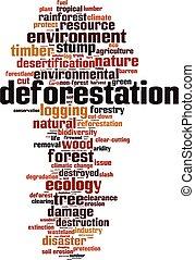 山林伐採, 雲, 単語