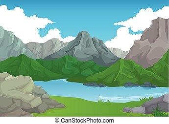 山湖, 美しさ, bakcgroun