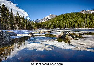 山, 岩が多い, 国立公園, 湖, 熊