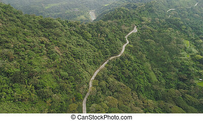 山, 島, luzon, 道, フィリピン。