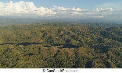 山, 島, luzon, 風景, フィリピン。