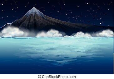山, 海の 眺め