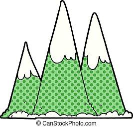 山, 漫画