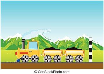山, 貨物, 機関車