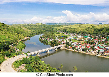 島, フィリピン。, 橋, samar, 道