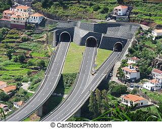 島, 道, トンネル