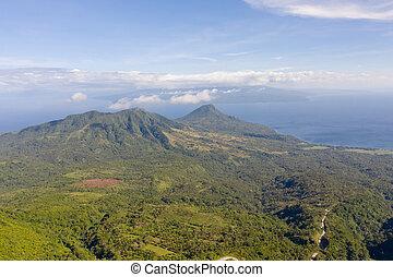 島, camiguin, 風景, フィリピン。, 山