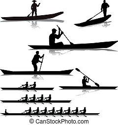川, 様々, rowers