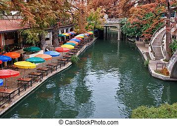 川, 歩きなさい, san, テキサス, antonio