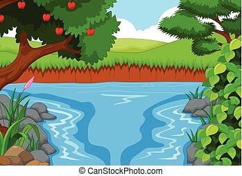 川, 美しさ, 風景, 光景