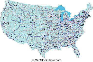 州連帯, 合併した, 地図, 州