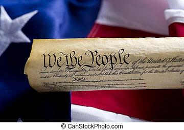 州, 合併した, スクロール, アメリカ, 憲法