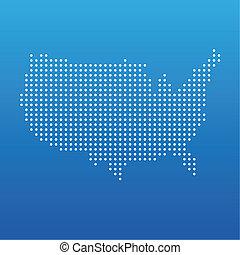 州, 地図, 合併した, 点