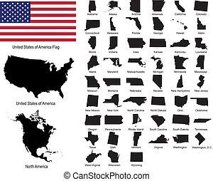 州, vectors, アメリカ