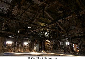 工場, 古い, 捨てられた