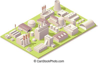 工場, 建物, 等大
