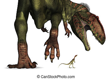 巨大, 比較, -, ごく小さい, 恐竜, 大きさ
