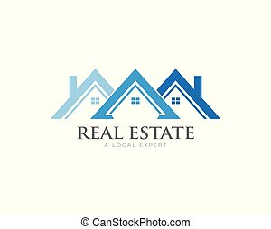 帯状面, ロゴ, 概念, 家, 屋根, soffit, 不動産
