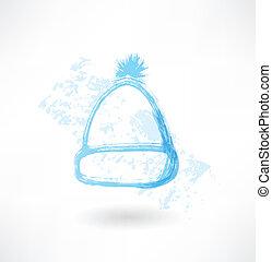 帽子, グランジ, 冬, アイコン