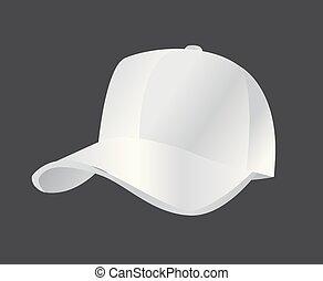 帽子, ベクトル, 野球, イラスト