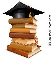 帽子, 本, 山, 卒業