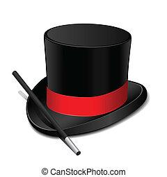帽子, 細い棒, マジック