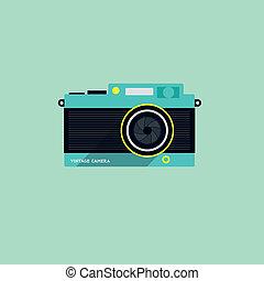 平ら, カメラ, アイコン