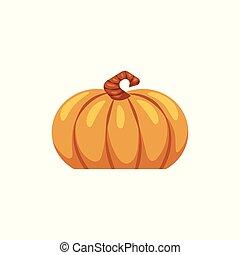 平ら, シンボル, 感謝祭, ベクトル, icon., カボチャ
